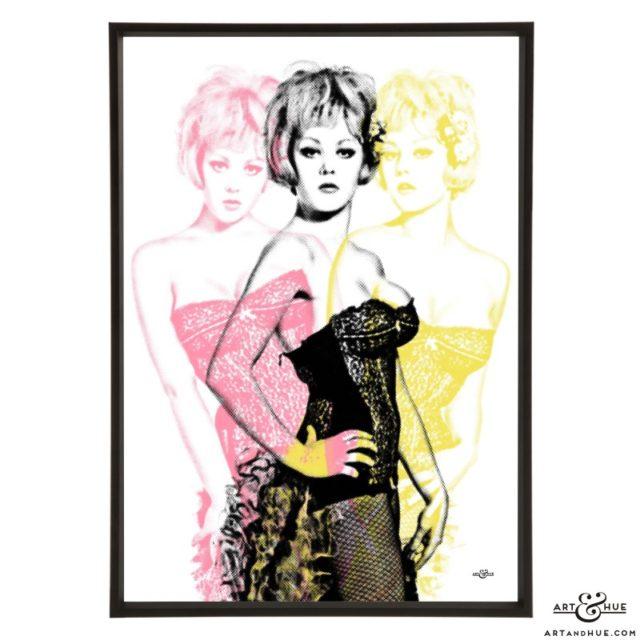 Triple Margaret Nolan stylish pop art print by Art & Hue