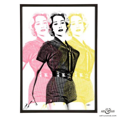Triple Liz Fraser stylish pop art print by Art & Hue