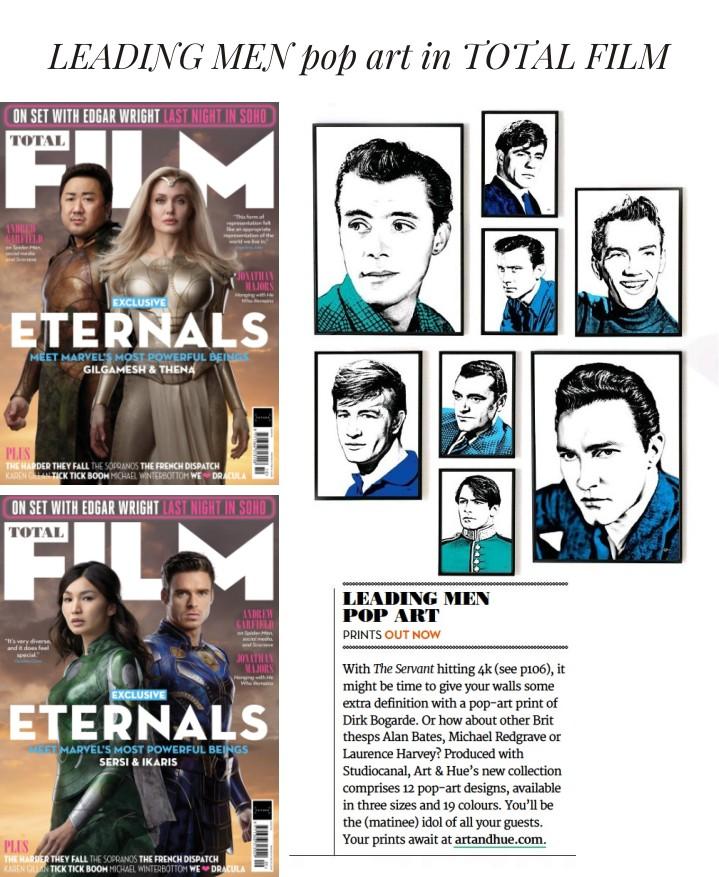 Leading Men pop art in Total Film