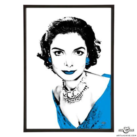 Elizabeth Sellars stylish pop art print by Art & Hue