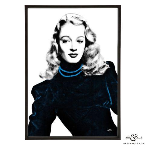 Patricia Dainton stylish pop art print by Art & Hue