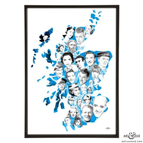 Scottish Film Map by Art & Hue